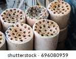 Small photo of Used coal briquette