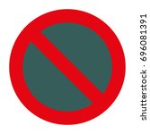stop sign icon. warning icon.   Shutterstock .eps vector #696081391