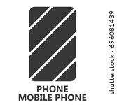 mobile phone icon. smarphone... | Shutterstock .eps vector #696081439