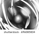 digital abstract fractal... | Shutterstock . vector #696085834