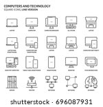 computers and technology ... | Shutterstock .eps vector #696087931