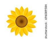 logo and symbol of sunflower... | Shutterstock .eps vector #696089584