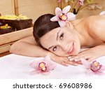 young beautiful woman on... | Shutterstock . vector #69608986
