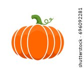 logo and a pumpkin symbol for... | Shutterstock .eps vector #696092281