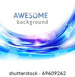 Vector awesome abstract blue backgrounds for business - stock vector