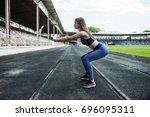 portrait of a gorgeous girl...   Shutterstock . vector #696095311
