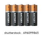 five batteries of the type aaa... | Shutterstock . vector #696099865
