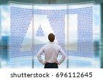 artificial intelligence concept ... | Shutterstock . vector #696112645