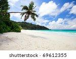 Idyllic Tropical Beach On Mahe...