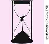 hourglass silhouette isolated... | Shutterstock . vector #696124201