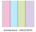 pastel seamless pattern set ... | Shutterstock .eps vector #696125641
