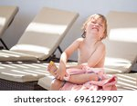 a boy have injured his leg and...   Shutterstock . vector #696129907