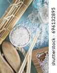 rice groats | Shutterstock . vector #696132895