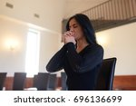 burial  people and mourning...   Shutterstock . vector #696136699
