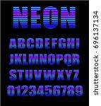 retro style neon tube glow... | Shutterstock .eps vector #696137134
