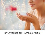 beauty  cosmetics  skin care... | Shutterstock . vector #696137551