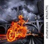 Burning Skeleton Riding A...