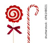 colorful lollipops isolated on... | Shutterstock . vector #696148021