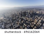 hazy afternoon aerial view of... | Shutterstock . vector #696162064