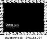 grunge frame. vector... | Shutterstock .eps vector #696166039