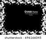 grunge frame. vector... | Shutterstock .eps vector #696166045