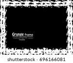 grunge frame. vector... | Shutterstock .eps vector #696166081