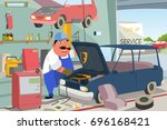 a vector illustration of auto... | Shutterstock .eps vector #696168421