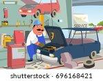 a vector illustration of auto... | Shutterstock .eps vector #696168421