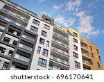 modern  luxury apartment...   Shutterstock . vector #696170641