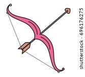 arrow bow isolated icon   Shutterstock .eps vector #696176275