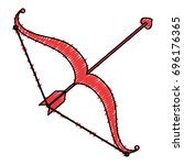 arrow bow isolated icon   Shutterstock .eps vector #696176365