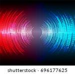 sound waves oscillating dark...