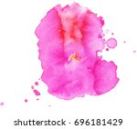 colorful abstract watercolor... | Shutterstock .eps vector #696181429
