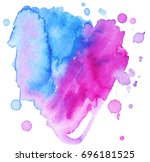 colorful abstract watercolor... | Shutterstock .eps vector #696181525