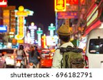 young asian traveler  in china... | Shutterstock . vector #696182791