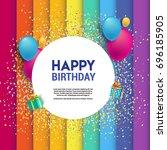 happy birthday vector design...   Shutterstock .eps vector #696185905