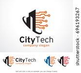 city tech logo template design... | Shutterstock .eps vector #696193267