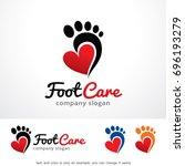 foot care logo template design... | Shutterstock .eps vector #696193279
