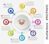 infographic template with... | Shutterstock .eps vector #696194641
