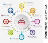 infographic template with... | Shutterstock .eps vector #696194665
