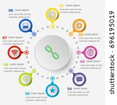 infographic template with web... | Shutterstock .eps vector #696195019