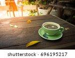 americano or black coffee | Shutterstock . vector #696195217