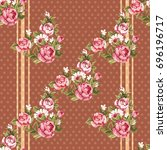 seamless floral pattern with... | Shutterstock .eps vector #696196717