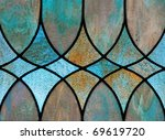 Design detail of stained glass window - stock photo