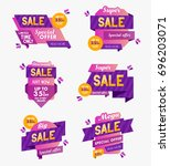 collection of sale banners ... | Shutterstock .eps vector #696203071