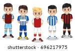5 vector character football  ... | Shutterstock .eps vector #696217975