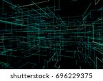 3d illustration abstract space... | Shutterstock . vector #696229375
