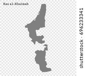 high quality map of ras al... | Shutterstock .eps vector #696233341