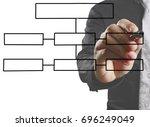 businessman drawing...   Shutterstock . vector #696249049