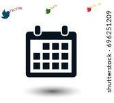 calendar icon vector  flat...   Shutterstock .eps vector #696251209